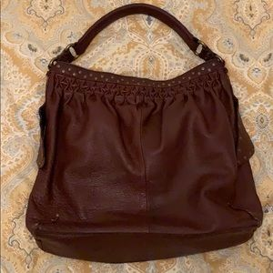Lucky Brand Brown Leather Hobo Large Bag Purse